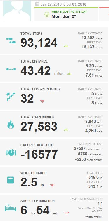 2016-07-05_KUHN_WEIGHT_LOSS_FITBIT_REPORT